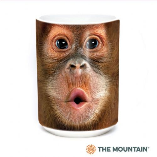 Big Face Baby Orangutan Ceramic Mug | The Mountain®